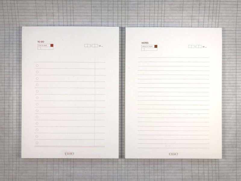 Etiket Notepad Large - 3