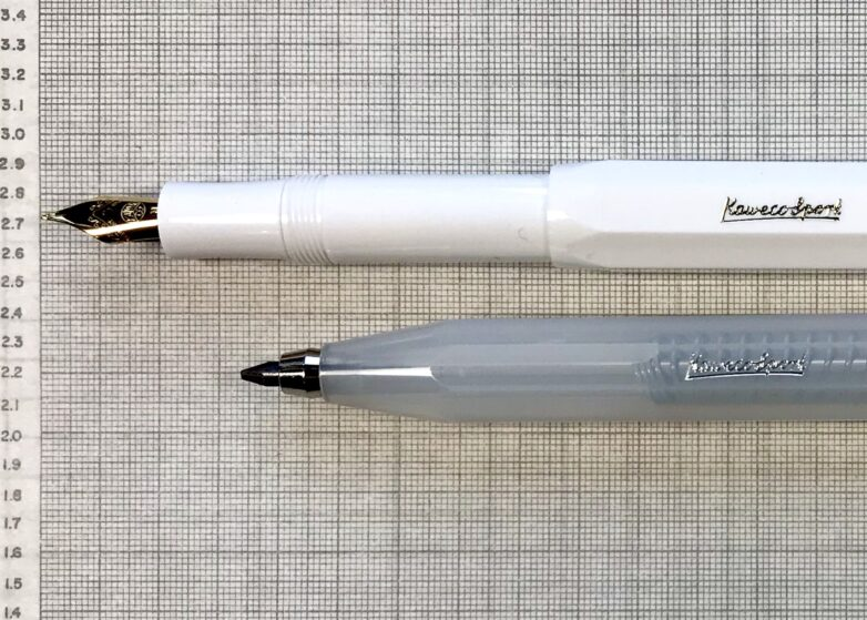 Kaweco Fountain Pen and Clutch Pen in white and transparent