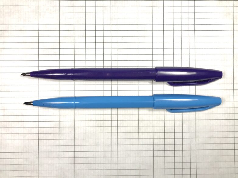 Pentel Sign Pen in blue and violet