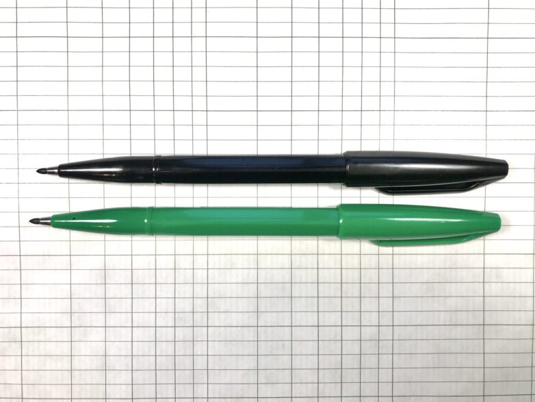 Pentel Sign Pen in green and black