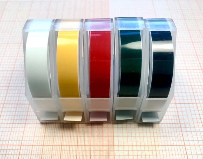 Refill in white, yellow, red, green and black