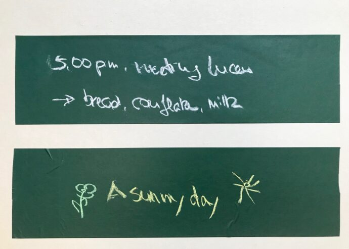 Blackboard Tape with writing