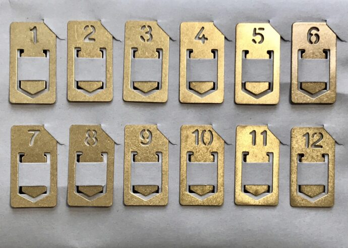 Brass Number Clips all