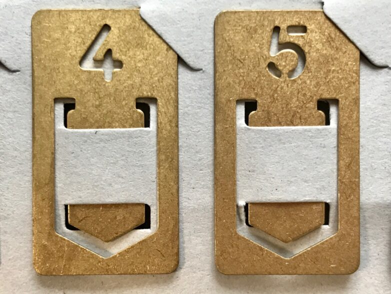 Brass Number Clips 4 and 5