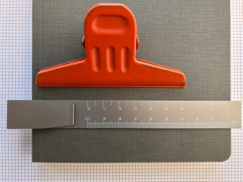 Clip Ruler with red clip