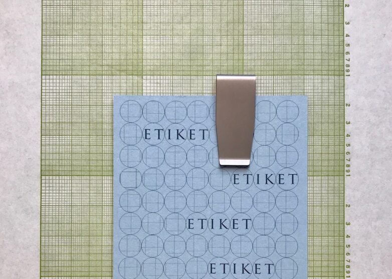 Clip Ruler with Etiket Card