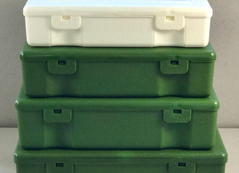 Storage Container white and green