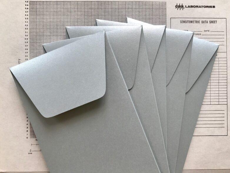 Envelope Silver Set of 5