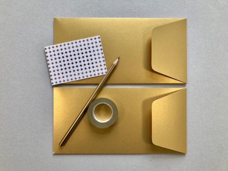 Envelope in gold