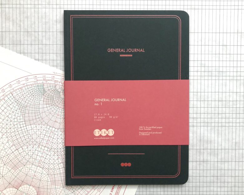 General Journal with paper tape