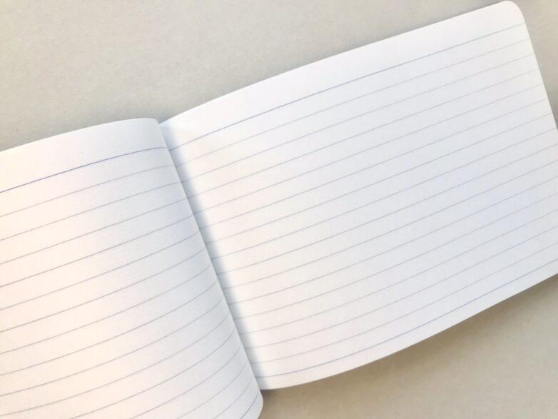 Japanese Notebook B6 open