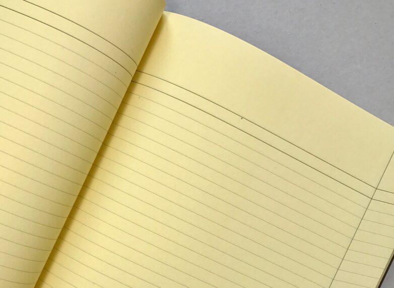 Large Notebook brown inside