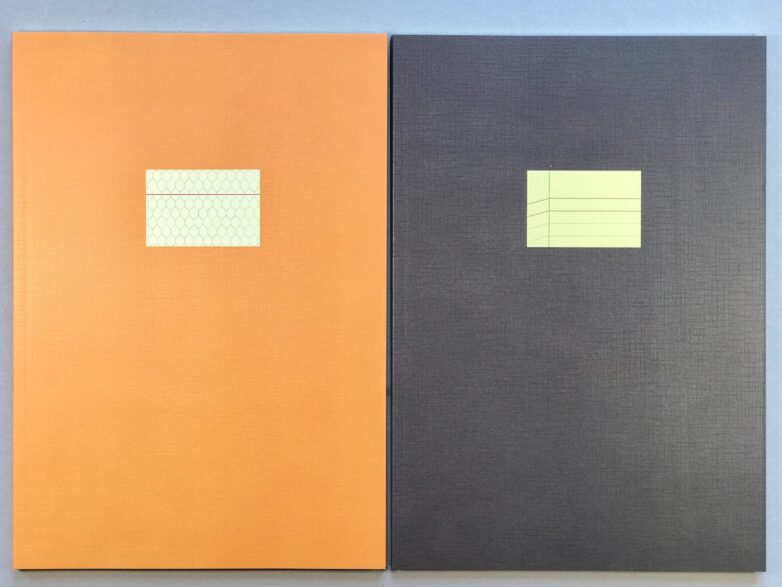 Large Notebook yellow and brown