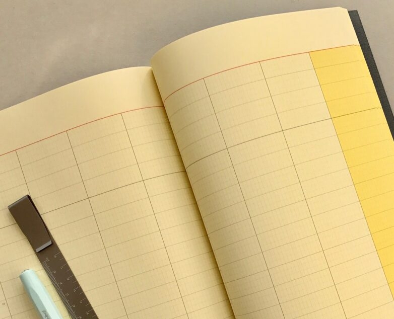 Large Notebook navy inside