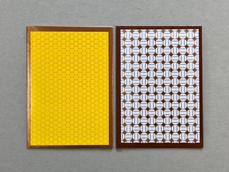 Mini Card in yellow and gold
