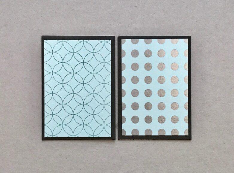 Mini Card in blue tones