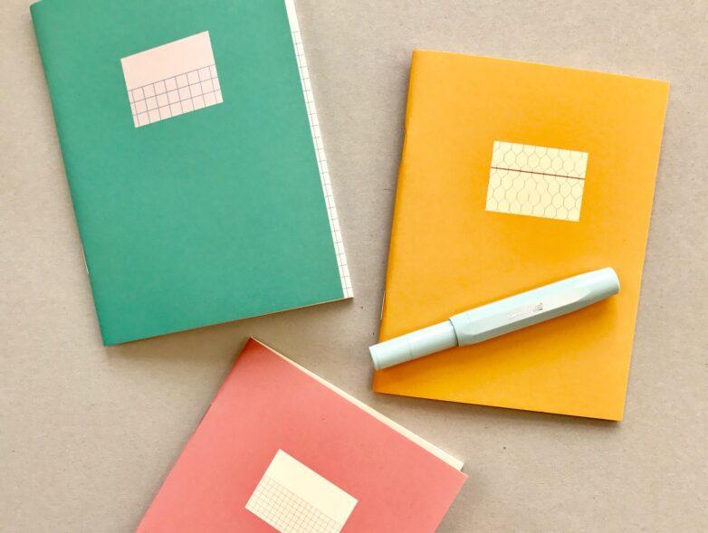 Mini Note green, yellow, pink