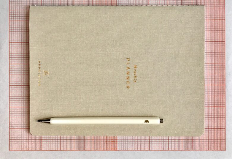 Monthly Planner with Metal Pen