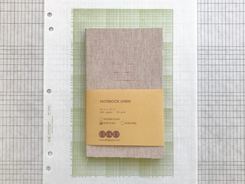 Notebook Linen with rose cover