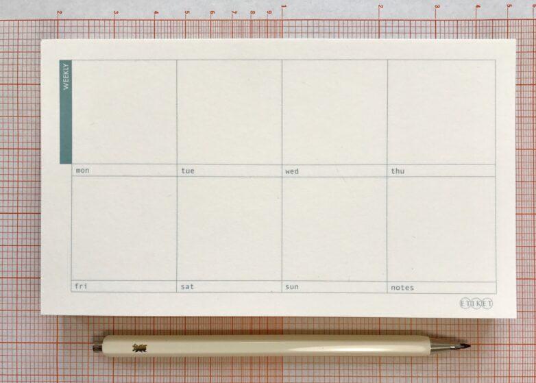Notepad Small Weekly