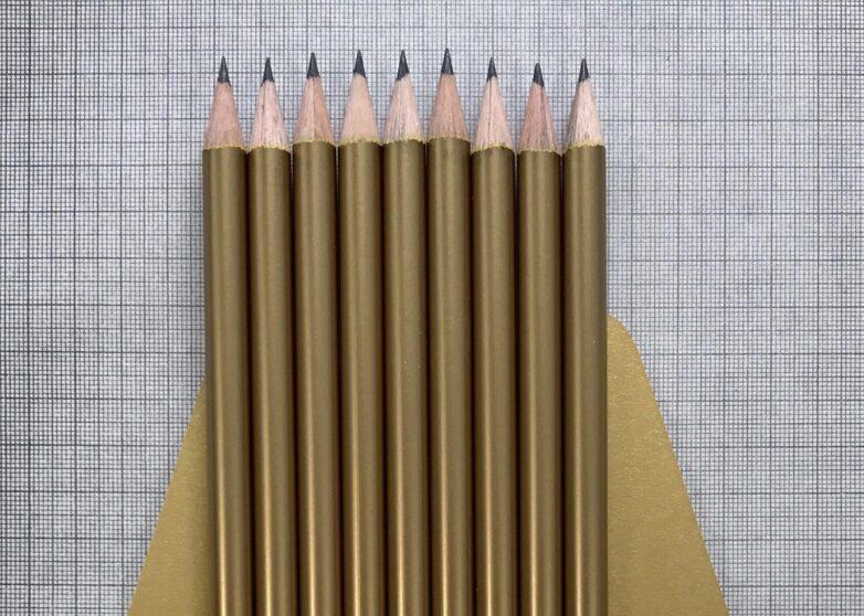 Shiny pencil gold