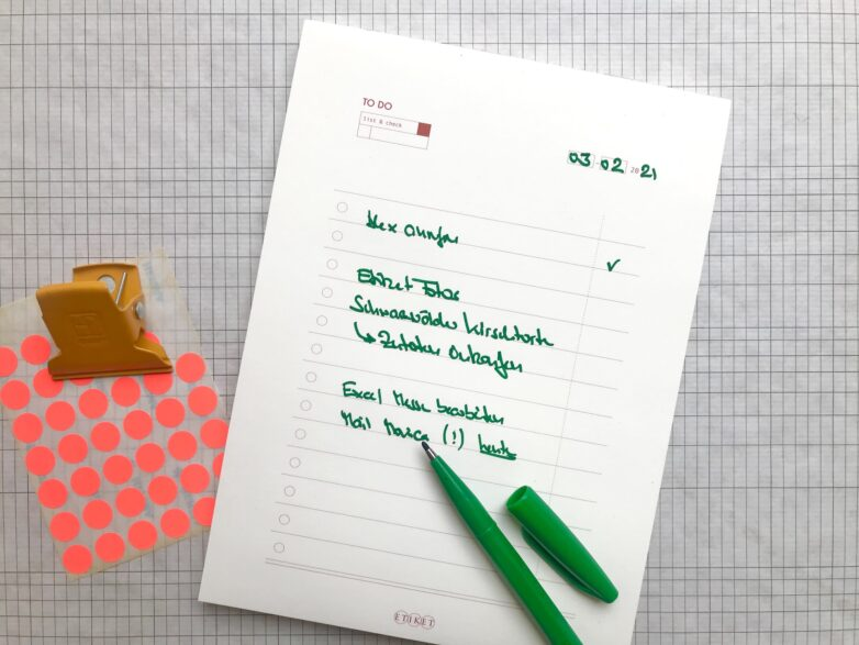 Notepad ToDo in use