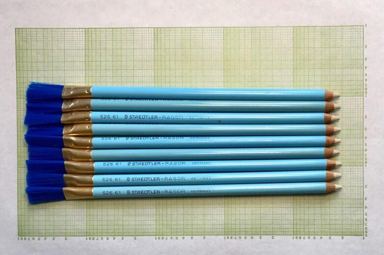 Vintage Eraser sorted